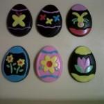 Easter Egg 6 motif bunga, kupu-kupu