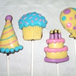 Lollipop Topi Party, Muffin, B'Day Cake, Ballon