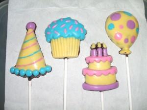Lollipop Topi Party, Muffin, B'Day Cake, Ballon