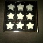 Sekat 9 bintang putih dus coklat emas